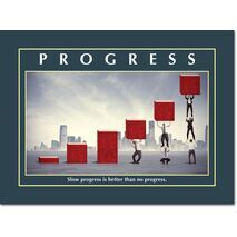 Motivational Print Slow progress MP AS 7715