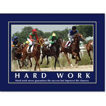 Motivational Print Hard work never guarantees MP AS 7718