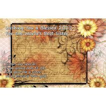 Sister - Personalised Sentimental Desk Calendar