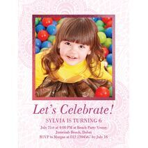 Birthday Invitation Card BIC 1005