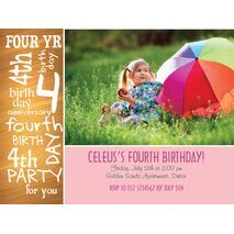 Birthday Invitation Card BIC 1007