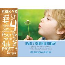 Birthday Invitation Card BIC 1107