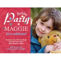 Birthday Invitation Card BIC 1010
