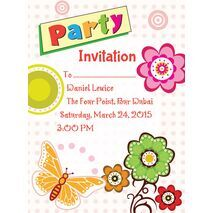 Kids Party Invitation 002