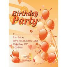 Kids Party Invitation 014