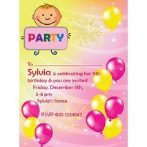 Kids Party Invitation 019