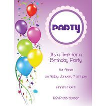 Kids Party Invitation 021