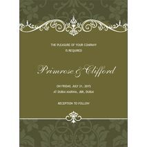 Wedding Invitation Card WIC 7905