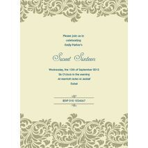 Formal Invitation Card FIC 3372