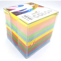 Paperline Cube Memo 90 x 90 mm - 870 sheet without glue plastic case Coloured