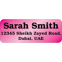 Personalised Return Address Labels ST RAL 0010
