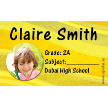 40 Personalised School Label 0230