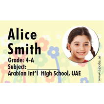 40 Personalised School Label 0237