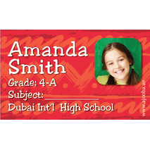 40 Personalised School Label 0240