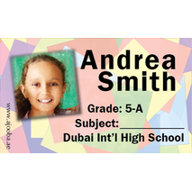 40 Personalised School Label 0241