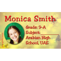40 Personalised School Label 0246