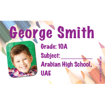 40 Personalised School Label 0247