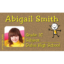 40 Personalised School Label 0249