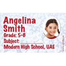 40 Personalised School Label 0252