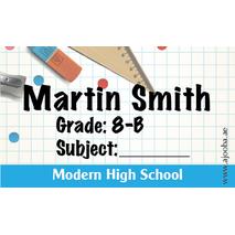 40 Personalised School Label 0258