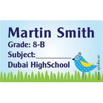 40 Personalised School Label 0260