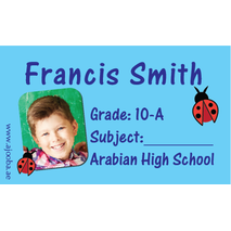 40 Personalised School Label 0263