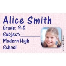 40 Personalised School Label 0266