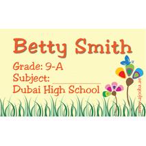 40 Personalised School Label 0267
