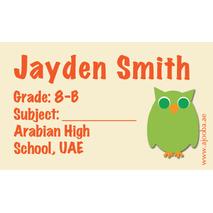 40 Personalised School Label 0268