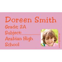 40 Personalised School Label 0269