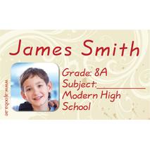 40 Personalised School Label 0272