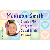 40 Personalised School Label 0278
