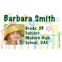 40 Personalised School Label 0280