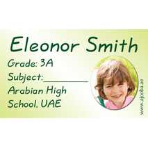 40 Personalised School Label 0281