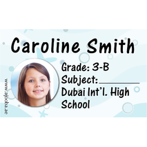 40 Personalised School Label 0283