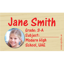 40 Personalised School Label 0285