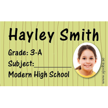 40 Personalised School Label 0289