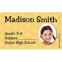 40 Personalised School Label 0290