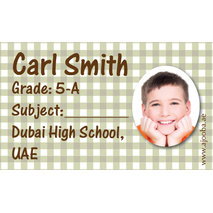 40 Personalised School Label 0293