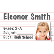 40 Personalised School Label 0296