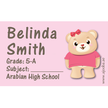 40 Personalised School Label 0300