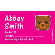 40 Personalised School Label 0305