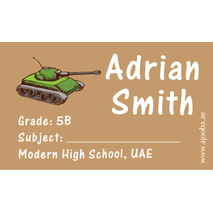 40 Personalised School Label 0307