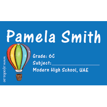 40 Personalised School Label 0308