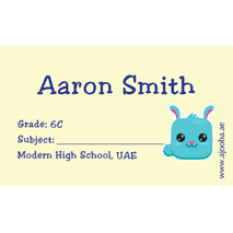 40 Personalised School Label 0309