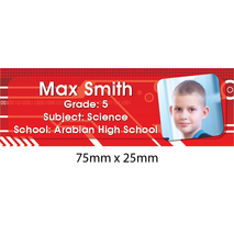 Personalised School Book Label Small PS BLS 0068