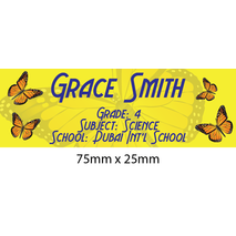 Personalised School Book Label Small PS BLS 0074