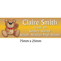 Personalised School Book Label Small PS BLS 0076