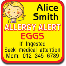 Allergy Label ST AL G 007