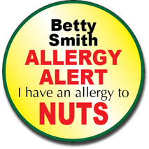 Allergy Label ST AL G 017